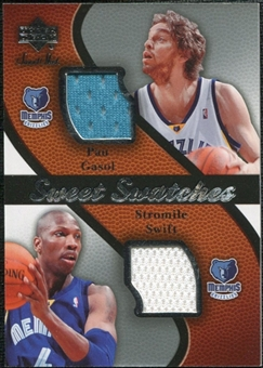 2007/08 Upper Deck Sweet Shot Sweet Swatches Dual #SG Pau Gasol Stromile Swift