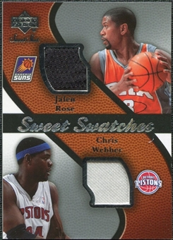 2007/08 Upper Deck Sweet Shot Sweet Swatches Dual #WR Jalen Rose Chris Webber