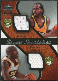 2007/08 Upper Deck Sweet Shot Sweet Swatches Dual #WW Chris Wilcox Damien Wilkins