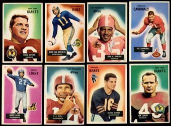 1955 Bowman Football Near Complete Set (EX-MT)