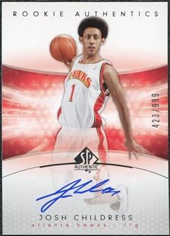 2004/05 Upper Deck SP Authentic #182 Josh Childress Autograph /999