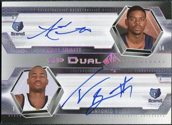 2004/05 Upper Deck SP Authentic Signatures Dual #EB Andre Emmett Antonio Burks /25