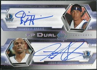 2004/05 Upper Deck SP Authentic Signatures Dual #HJ Devin Harris Jerry Stackhouse /25