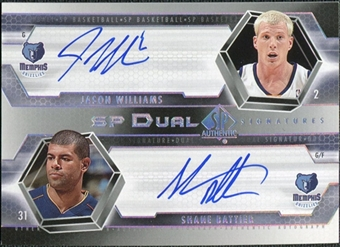 2004/05 Upper Deck SP Authentic Signatures Dual #WB Jason Williams Shane Battier /25