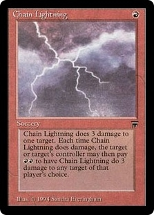Magic the Gathering Legends Single Chain Lightning - NEAR MINT (NM)