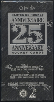 1992/93 O-Pee-Chee 25th Anniversary Hockey Factory Set