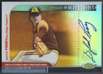 2003 Finest Moments #GP Gaylord Perry Refractor Auto