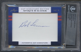 2012 Leaf Sports Icons Bob Lemon Cut Auto #14/36