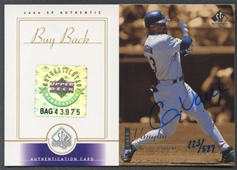 2000 SP Authentic #155 Greg Vaughn Buybacks Auto #223/527