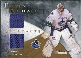 2010/11 Upper Deck Artifacts Frozen Artifacts #FARL Roberto Luongo /150