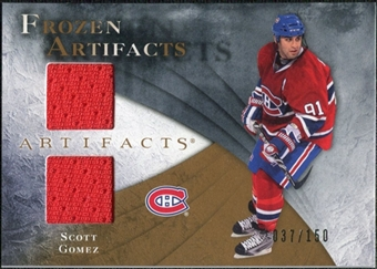 2010/11 Upper Deck Artifacts Frozen Artifacts #FASG Scott Gomez /150