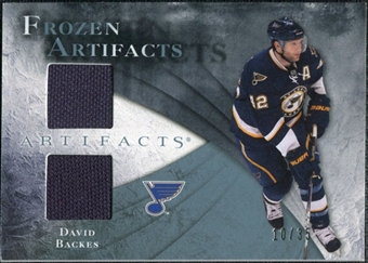 2010/11 Upper Deck Artifacts Frozen Artifacts Blue #FADB David Backes 10/35