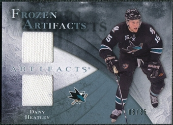 2010/11 Upper Deck Artifacts Frozen Artifacts Blue #FADH Dany Heatley 8/35