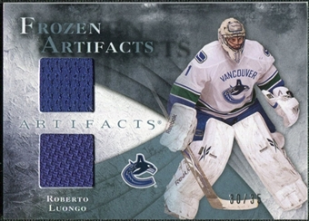 2010/11 Upper Deck Artifacts Frozen Artifacts Blue #FARL Roberto Luongo /35