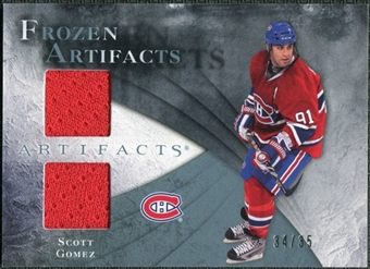 2010/11 Upper Deck Artifacts Frozen Artifacts Blue #FASG Scott Gomez /35