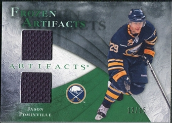 2010/11 Upper Deck Artifacts Frozen Artifacts Emerald #FAJP Jason Pominville 12/15