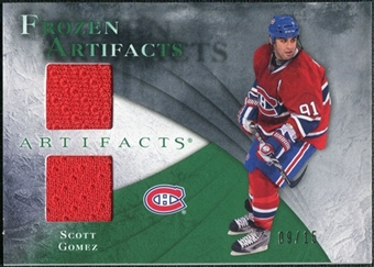 2010/11 Upper Deck Artifacts Frozen Artifacts Emerald #FASG Scott Gomez 9/15