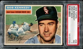 1956 Topps Baseball #38 Bob Kennedy PSA 7 (NM) *7252