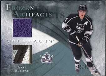 2010/11 Upper Deck Artifacts Frozen Artifacts Jersey Patch Blue #FAAK Anze Kopitar /50
