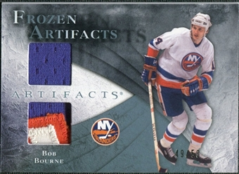 2010/11 Upper Deck Artifacts Frozen Artifacts Jersey Patch Blue #FABB Bob Bourne /50