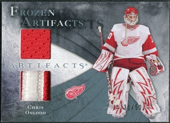 2010/11 Upper Deck Artifacts Frozen Artifacts Jersey Patch Blue #FACO Chris Osgood /50