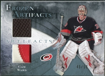 2010/11 Upper Deck Artifacts Frozen Artifacts Jersey Patch Blue #FACW Cam Ward /50