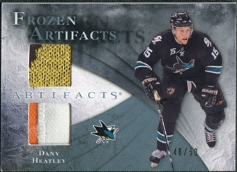 2010/11 Upper Deck Artifacts Frozen Artifacts Jersey Patch Blue #FADH Dany Heatley /50