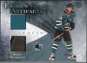 2010/11 Upper Deck Artifacts Frozen Artifacts Jersey Patch Blue #FADS Devin Setoguchi /50