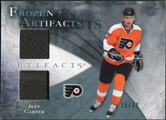 2010/11 Upper Deck Artifacts Frozen Artifacts Jersey Patch Blue #FAJC Jeff Carter /50
