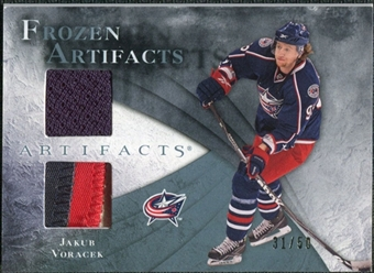 2010/11 Upper Deck Artifacts Frozen Artifacts Jersey Patch Blue #FAJV Jakub Voracek /50