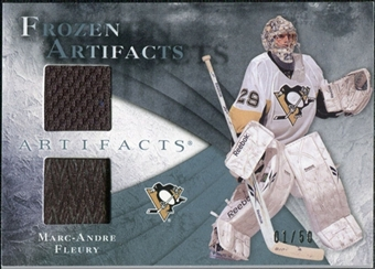 2010/11 Upper Deck Artifacts Frozen Artifacts Jersey Patch Blue #FAMF Marc-Andre Fleury /50