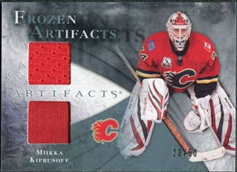 2010/11 Upper Deck Artifacts Frozen Artifacts Jersey Patch Blue #FAMK Miikka Kiprusoff /50