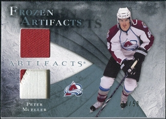 2010/11 Upper Deck Artifacts Frozen Artifacts Jersey Patch Blue #FAMU Peter Mueller /50