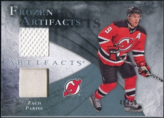 2010/11 Upper Deck Artifacts Frozen Artifacts Jersey Patch Blue #FAZP Zach Parise /50