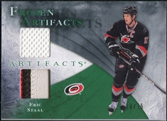 2010/11 Upper Deck Artifacts Frozen Artifacts Jersey Patch Emerald #FAES Eric Staal 10/25