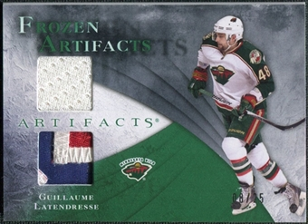 2010/11 Upper Deck Artifacts Frozen Artifacts Jersey Patch Emerald #FAGL Guillaume Latendresse /25