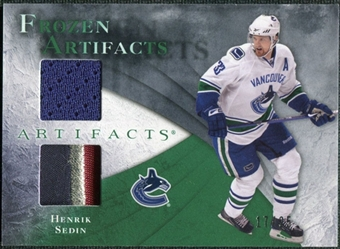 2010/11 Upper Deck Artifacts Frozen Artifacts Jersey Patch Emerald #FAHS Henrik Sedin 17/25
