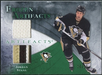 2010/11 Upper Deck Artifacts Frozen Artifacts Jersey Patch Emerald #FAJO Jordan Staal /25