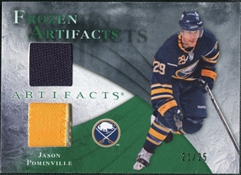 2010/11 Upper Deck Artifacts Frozen Artifacts Jersey Patch Emerald #FAJP Jason Pominville 21/25