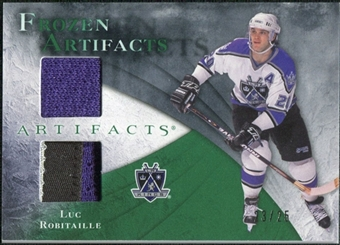 2010/11 Upper Deck Artifacts Frozen Artifacts Jersey Patch Emerald #FALR Luc Robitaille 23/25