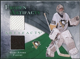 2010/11 Upper Deck Artifacts Frozen Artifacts Jersey Patch Emerald #FAMF Marc-Andre Fleury /25