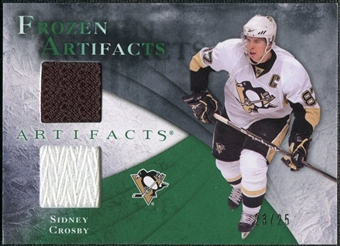 2010/11 Upper Deck Artifacts Frozen Artifacts Jersey Patch Emerald #FASC Sidney Crosby /25