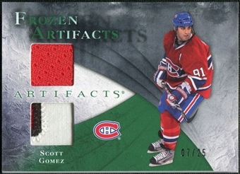 2010/11 Upper Deck Artifacts Frozen Artifacts Jersey Patch Emerald #FASG Scott Gomez /25