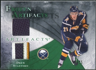 2010/11 Upper Deck Artifacts Frozen Artifacts Jersey Patch Emerald #FAST Drew Stafford 13/25