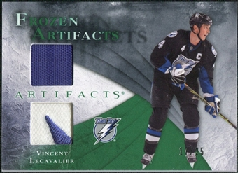 2010/11 Upper Deck Artifacts Frozen Artifacts Jersey Patch Emerald #FAVL Vincent Lecavalier /25