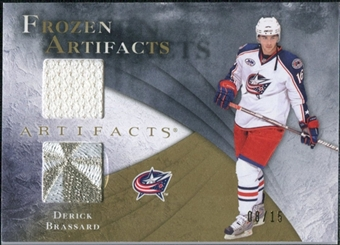 2010/11 Upper Deck Artifacts Frozen Artifacts Jersey Patch Gold #FABR Derick Brassard 8/15