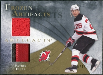 2010/11 Upper Deck Artifacts Frozen Artifacts Jersey Patch Gold #FAEL Patrik Elias 5/15