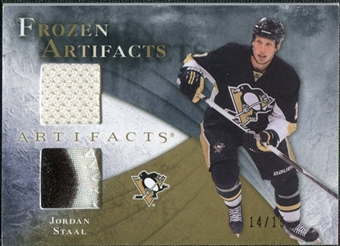 2010/11 Upper Deck Artifacts Frozen Artifacts Jersey Patch Gold #FAJO Jordan Staal 14/15