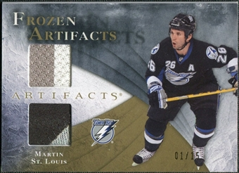 2010/11 Upper Deck Artifacts Frozen Artifacts Jersey Patch Gold #FAMS Martin St. Louis 1/15