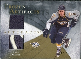 2010/11 Upper Deck Artifacts Frozen Artifacts Jersey Patch Gold #FASW Shea Weber /15